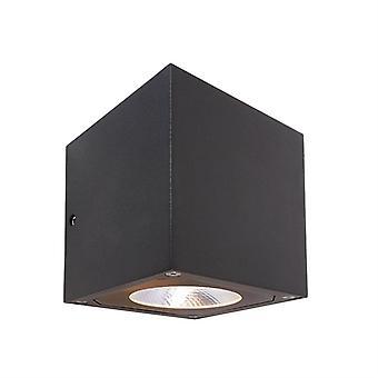 LED exterieur wand lamp Cubodo II dubbel donkergrijs 108x115mm 3000K 14 W