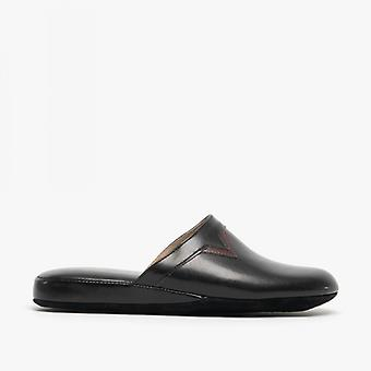 Chaleur Piero Mens Mule Slippers Black