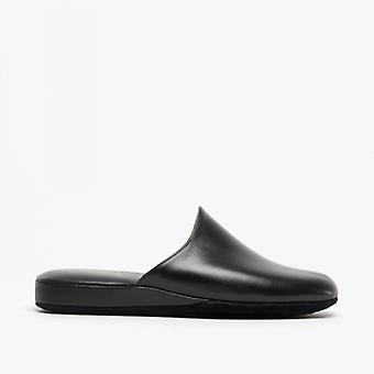 Chaleur Luca Mens Mule Slippers Black