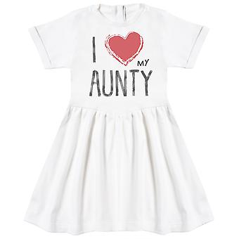 I Love My Aunty Red Heart Baby Dress