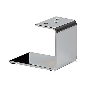 Chrome U-profile furniture Leg 12 cm