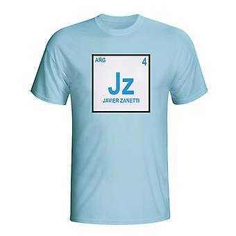 Javier Zanetti Argentina periodiska T-shirt (himmelsblå)