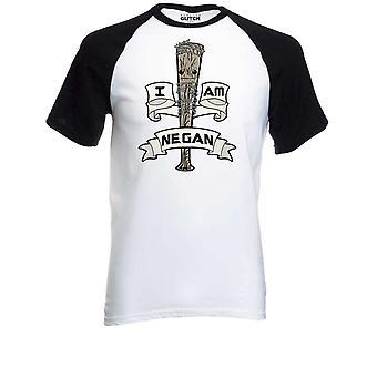 Homens ' s eu sou negan baseball t-shirt