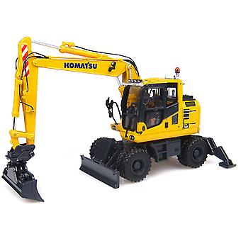 Komatsu PW148-10 with Standard and Ditching Buckets Diecast Model Excavator
