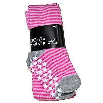 Pantalon de chaussette antihalk rose avec chat 92 cl