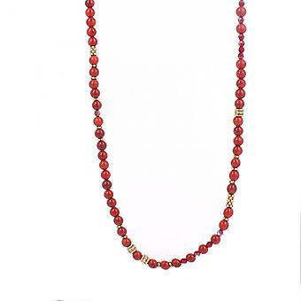 Collier et pendentif Les Interchangeables A59321   - Sautoir Bobo Chic Rouge Femme