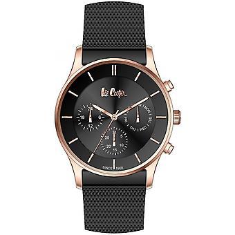 Shows Lee Cooper-LC06544-450 - chronograph steel black box Dor Rose man Milanese