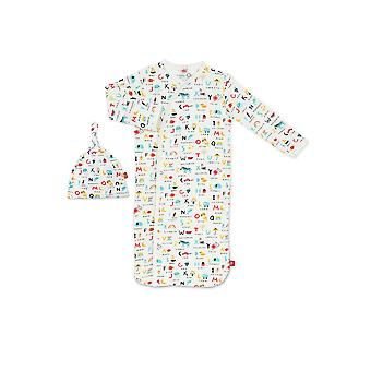 Magnetic Me™ af Magnificent baby modal Gown & hat set