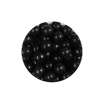 Paarse cupcakes 10mm parels-zwart-80g
