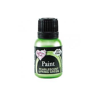 Regnbue støv metallisk mad maling 25ml åÐ Pearlescent forår grøn