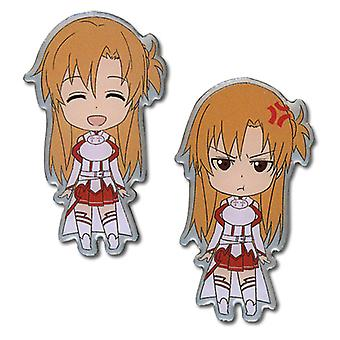 Pin Set - Sword Art Online - Happy/Angry Asuna New Anime Licensed ge50060
