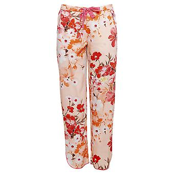 Cyberjammies 4425 Women's Darcie Coral Orange Floral Print Cotton Pyjama Pant