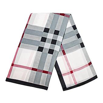Scarf with checkerboard pattern - White, No. 22