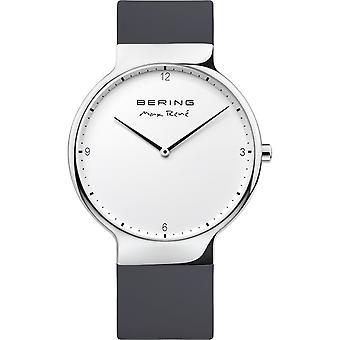 Bering mens watch reloj de pulsera Max René ultra delgado - 15540-400 silicona
