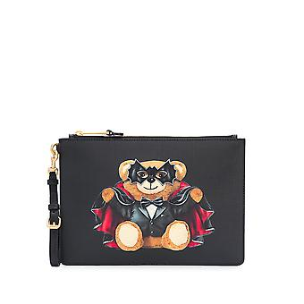 Moschino 84298210a1555 Women's Black Polyurethane Clutch