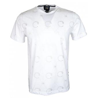 Cavalli Class Jersey Stretch Snake White T-shirt