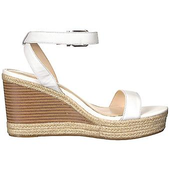 Jessica Simpson Womens Maylra Leather Open Toe SlingBack Wedge Pumps