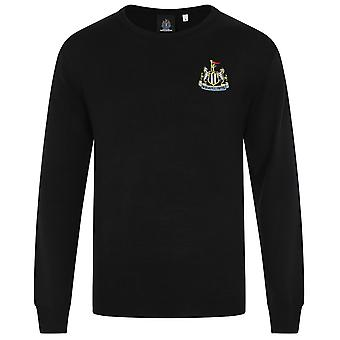 Newcastle United FC Official Football Gift Mens Crest Knitted Jumper