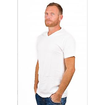 Alan Red T-Shirt Vermont Extra Long White (2 pack)