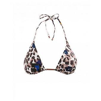Ted Baker Swimwear Leopard Print Tie Side Bikini Top