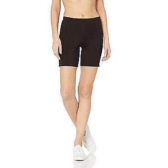 Hanes Women's Stretch Jersey Bike Short, Black, X-Large, Black, Size X-Large