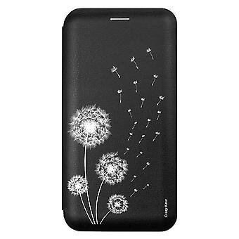 Case For Samsung Galaxy A71 Black Motif Flowers Of Pissenlit
