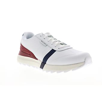 Skechers Speedtooth  Mens White Leather Low Top Lifestyle Sneakers Shoes
