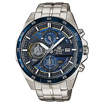 Casio Edifice Quartz Blue Dial Silver Stainless Steel Chronograph Men's Watch EFR-556DB-2AVUEF