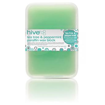 Hive Of Beauty Waxing Tea Tree Low Melt Paraffin Therapy Treatment - 450g Block