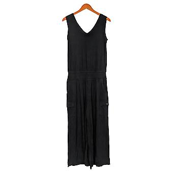 Lisa Rinna Collection Jumpsuits Sleeveless Wide Leg Black A308774