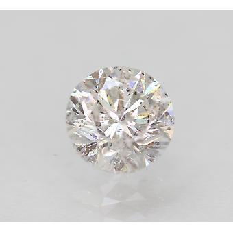 Certified 0.75 Carat E SI1 Round Brilliant Enhanced Natural Loose Diamond 5.55mm