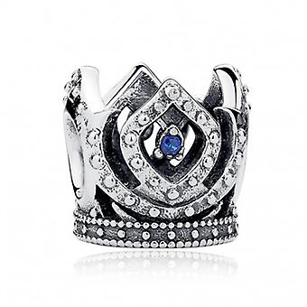 Sterling Silver Charm Blue Crown - 5233