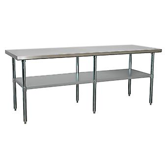 Sealey Ap2184Ss Stainless Steel Workbench 2.1Mtr
