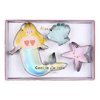 Meri Meri Mermaid Shell Starfish Sea Cookie Cutters x 3