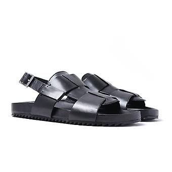Grenson Wiley Calf Leather Black Sandals