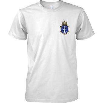 HMS Smiter - nuvarande Royal Navy fartyg T-Shirt färg