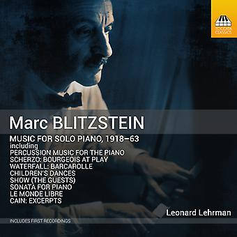 Music For Solo Piano 1918-63 [CD] USA import