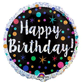 Anagram 18 tums prickiga födelsedag holografisk folie ballong