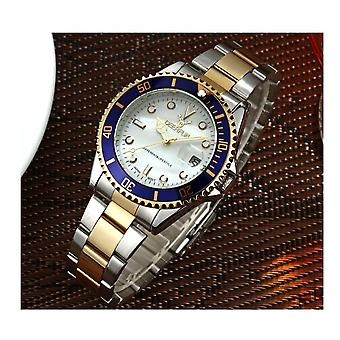 Genuine Deerfun Homage Watch White Blue Gold Date Watches Top Quality Sale