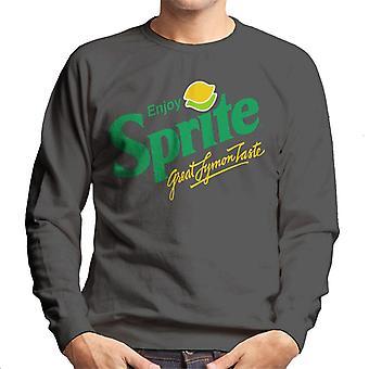 Camisola dos homens do logotipo dos anos 90 do sprite retro