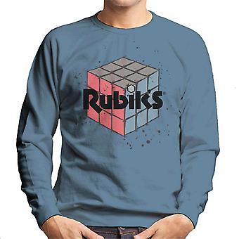 Rubiks Spotty Cube Mäns tröja
