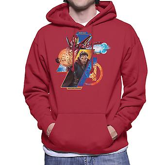 Marvel Avengers Infinity Krieg Ironman und Doctor Strange Herren Sweatshirt mit Kapuze