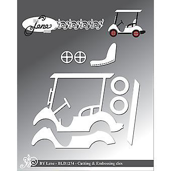 بواسطة لين جولف عربة قطع &; النقش يموت