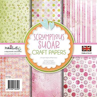 Polkadoodles Sugar Heerlijke 6x6 Inch Paper Pack