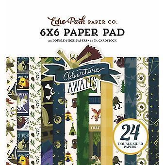 Echo Park Adventure attend 6x6 Pouces Paper Pad
