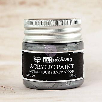 Finnabair Art Alkemia akryyli maali metallinen hopea lusikka