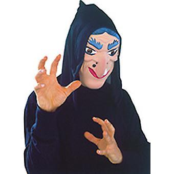 Maschera strega con panno anziana male Carnevale Carnevale Mardi