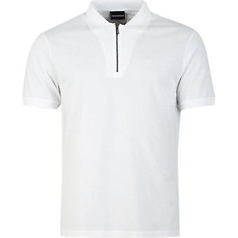 Armani Zip Neck Polo Shirt