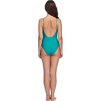 الجسم قفاز المرأة & apos;ق العصائر البساطة الصلبة قطعة واحدة ملابس السباحة, الطاووس, لي ...