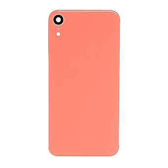 Dla iPhone XR - Tylna tylna pokrywa z tylną szybą z obiektywem aparatu - Coral Pink